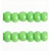 Cut 11/0 Opaque Light Green Strung